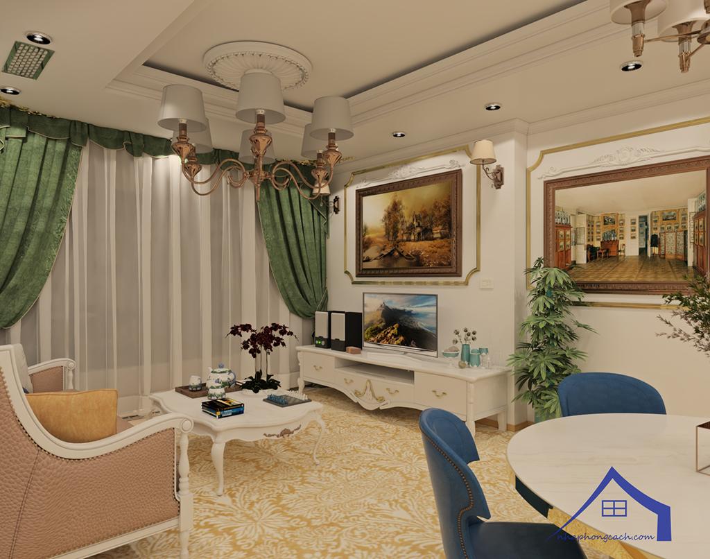 Thiết kế nội thất tân cổ điển cho chung cư Times City căn 02&16 tòa T2- 97m2 9