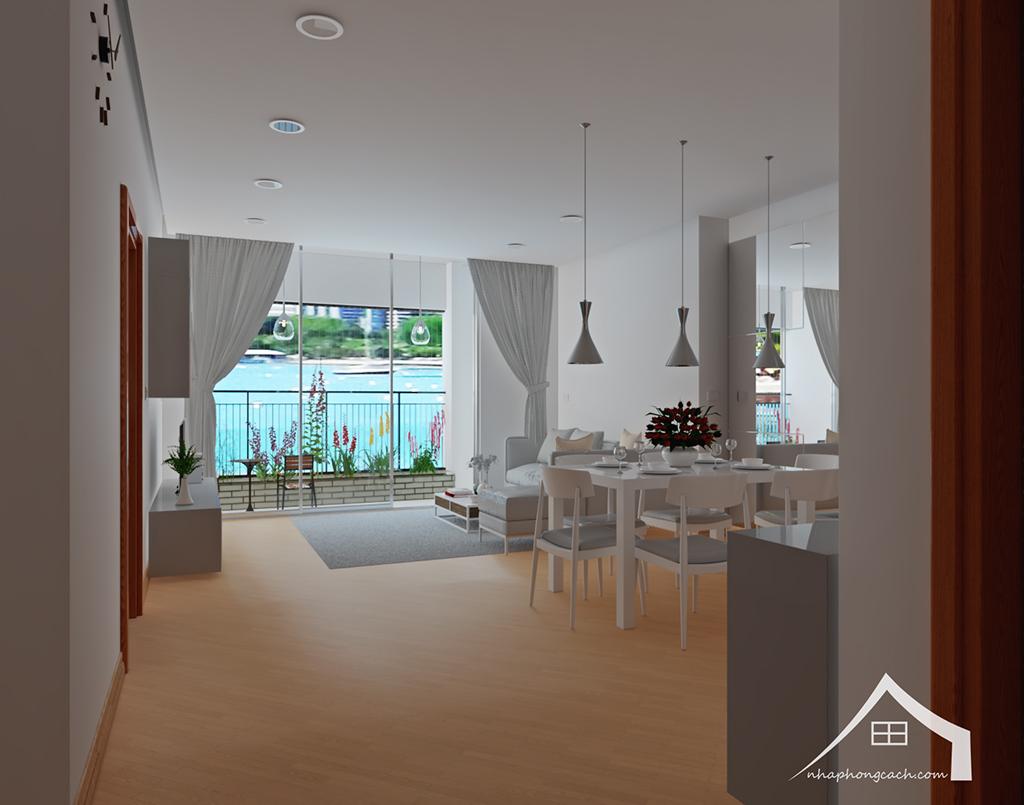 Thiết kế nội thất tối giản chung cư Times City căn 04 & 12 diện tích 95m2 1