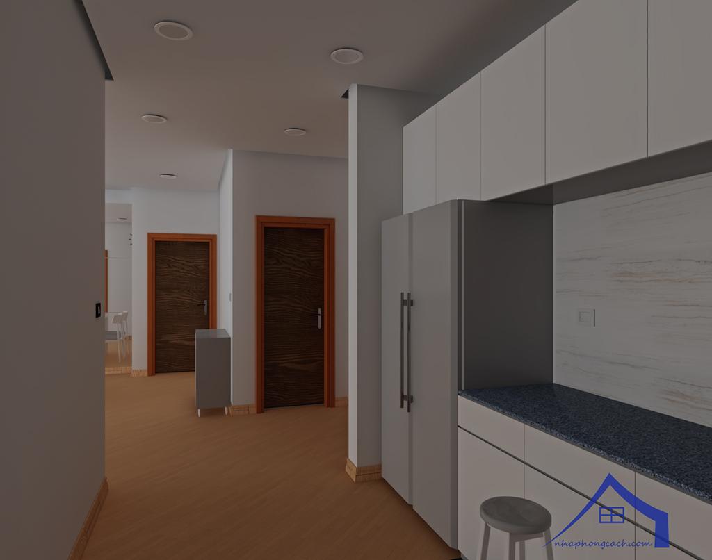 Thiết kế nội thất tối giản chung cư Times City căn 04 & 12 diện tích 95m2 10