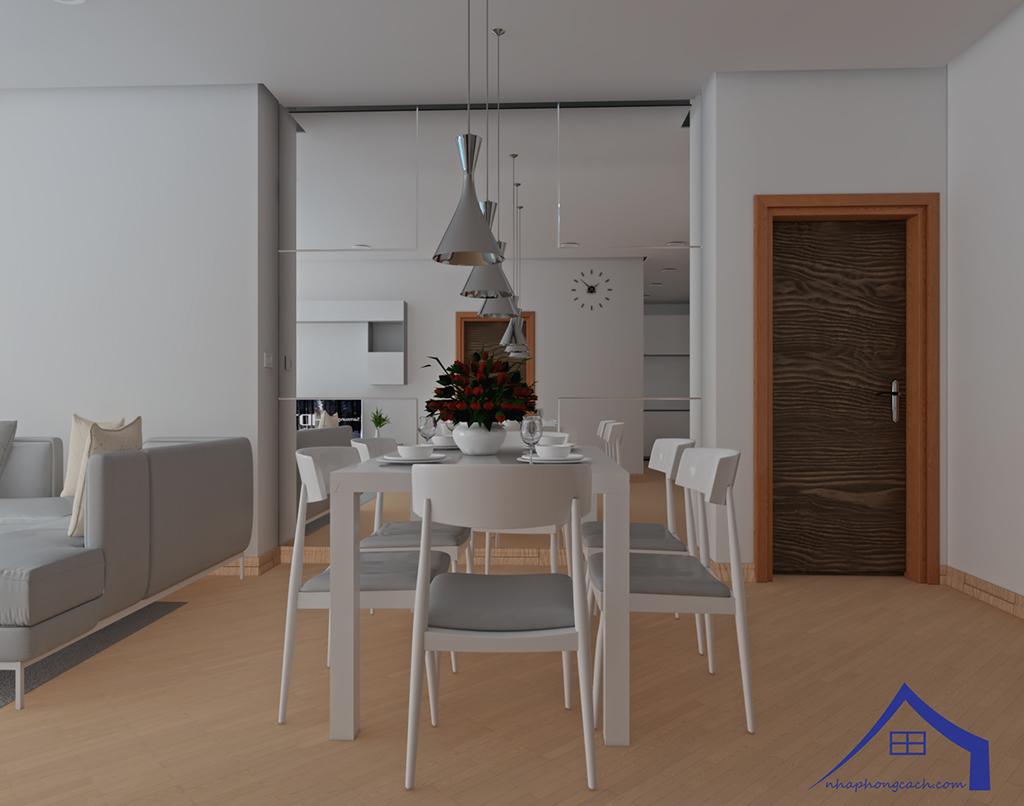 Thiết kế nội thất tối giản chung cư Times City căn 04 & 12 diện tích 95m2 11