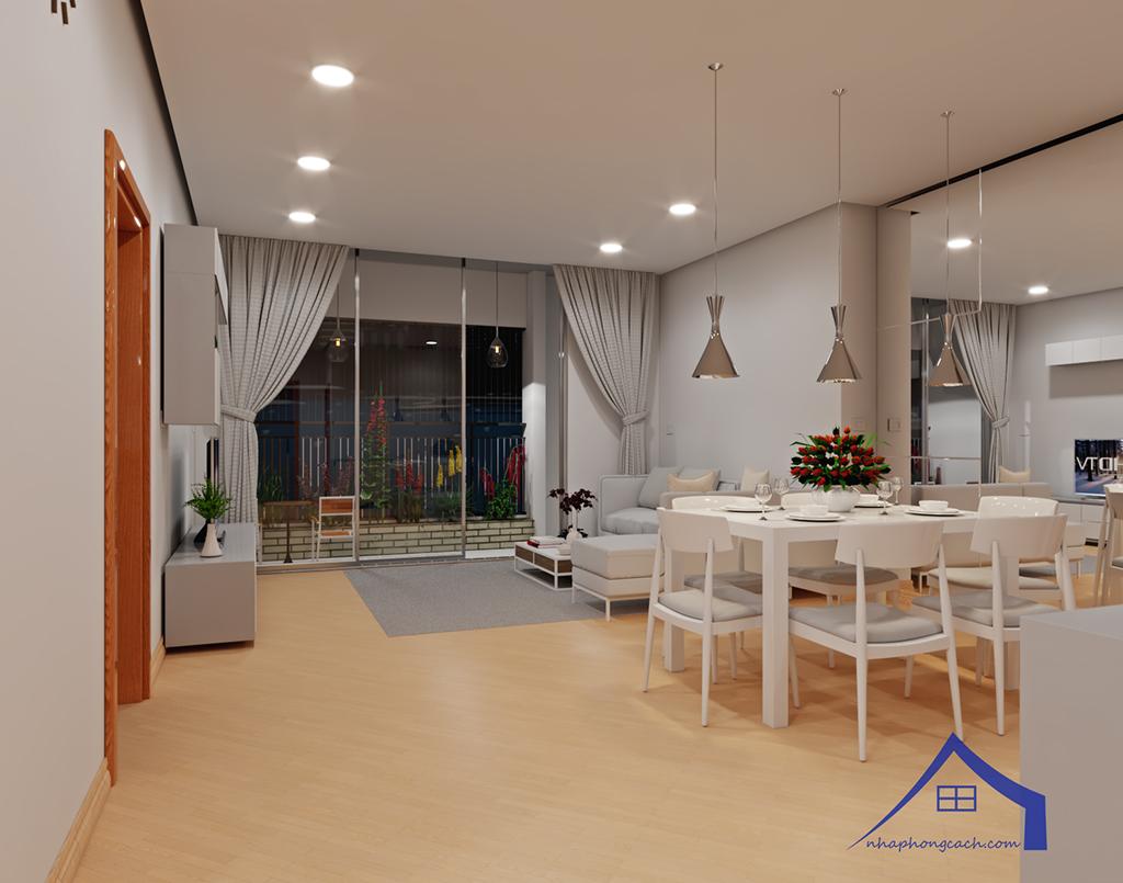 Thiết kế nội thất tối giản chung cư Times City căn 04 & 12 diện tích 95m2 2