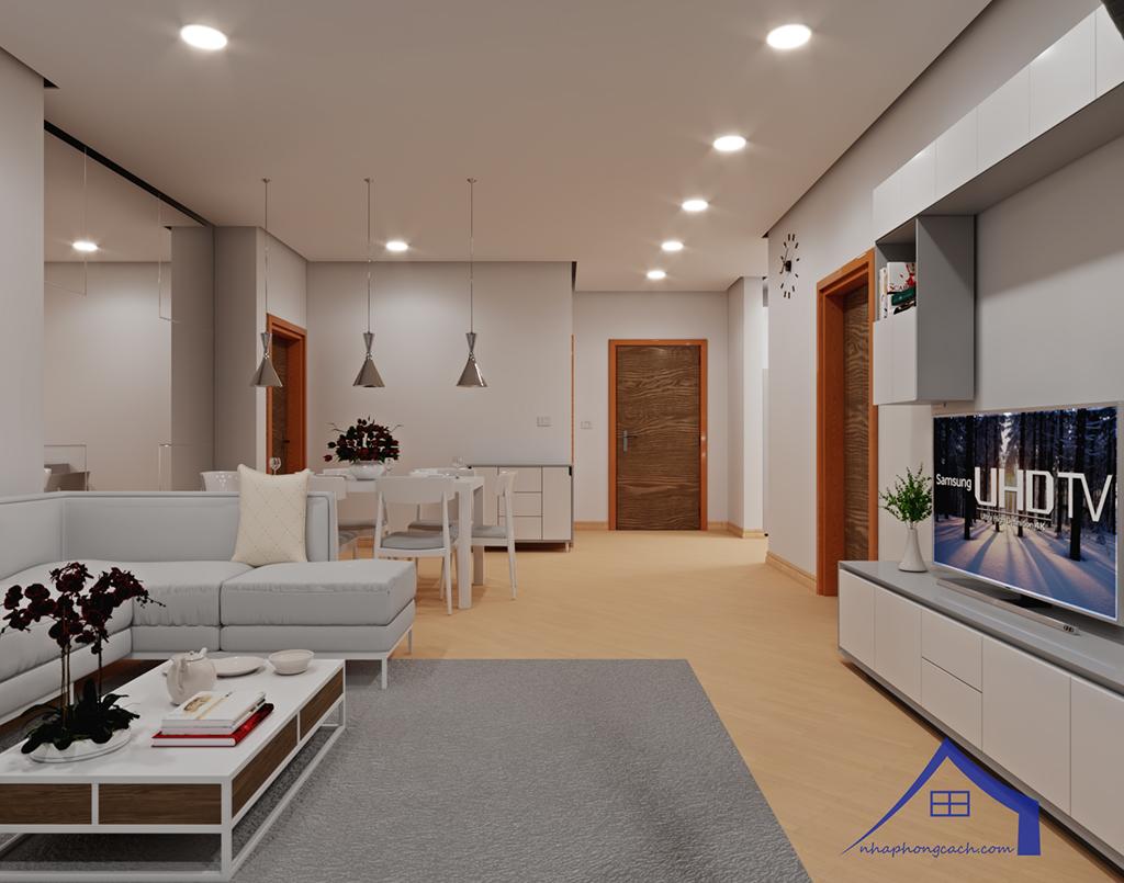 Thiết kế nội thất tối giản chung cư Times City căn 04 & 12 diện tích 95m2 3