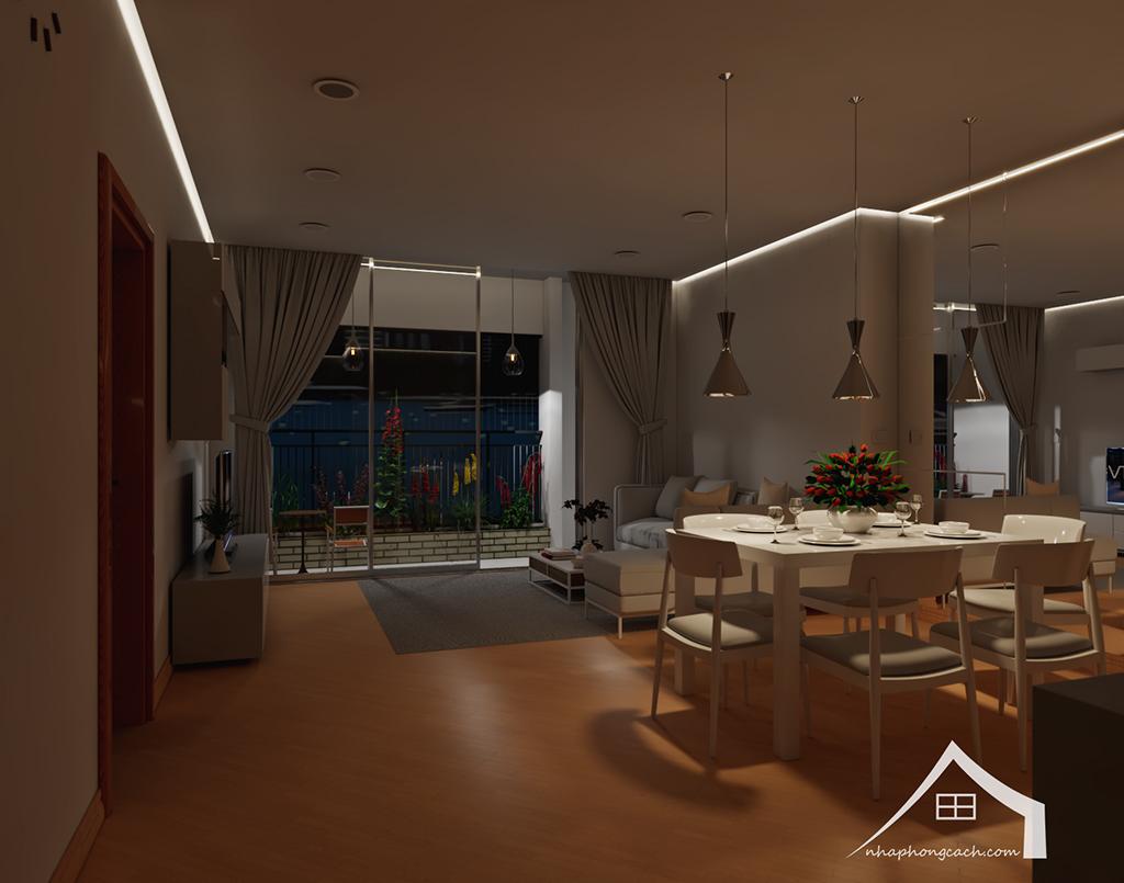 Thiết kế nội thất tối giản chung cư Times City căn 04 & 12 diện tích 95m2 4