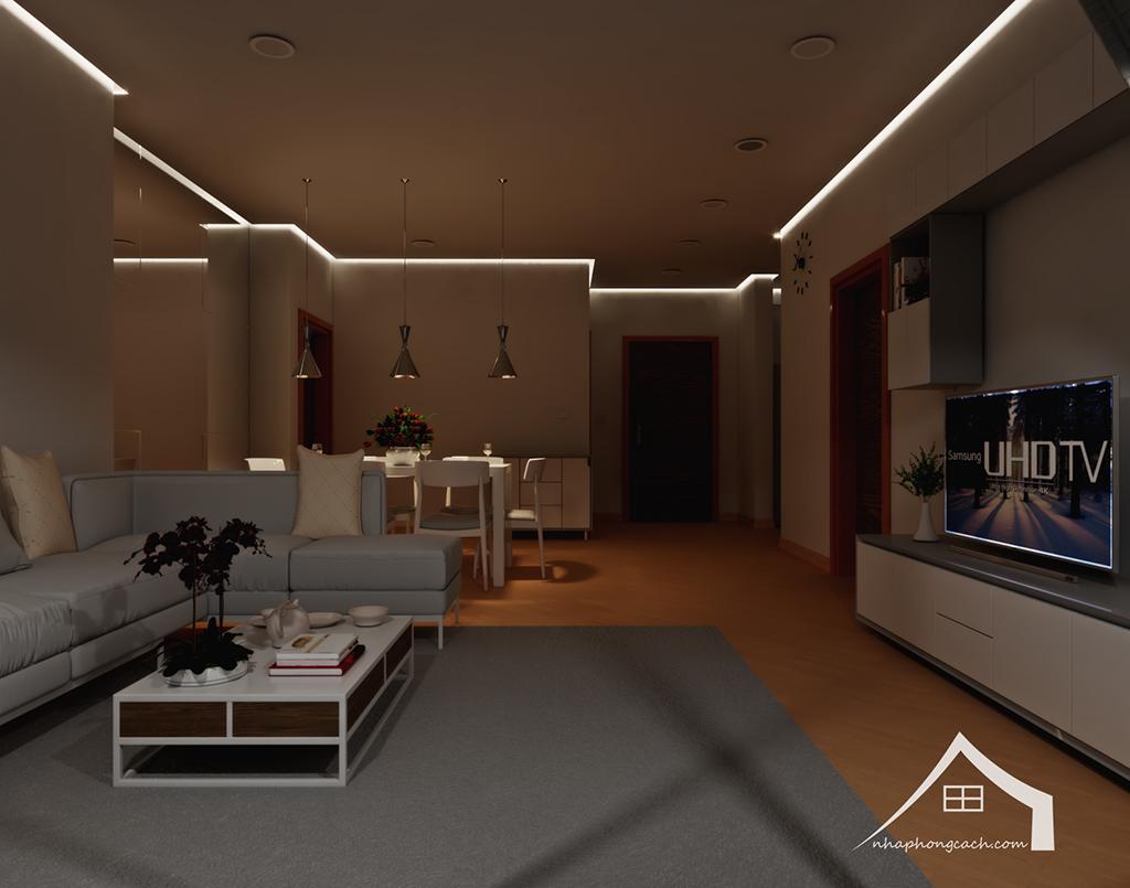 Thiết kế nội thất tối giản chung cư Times City căn 04 & 12 diện tích 95m2 5