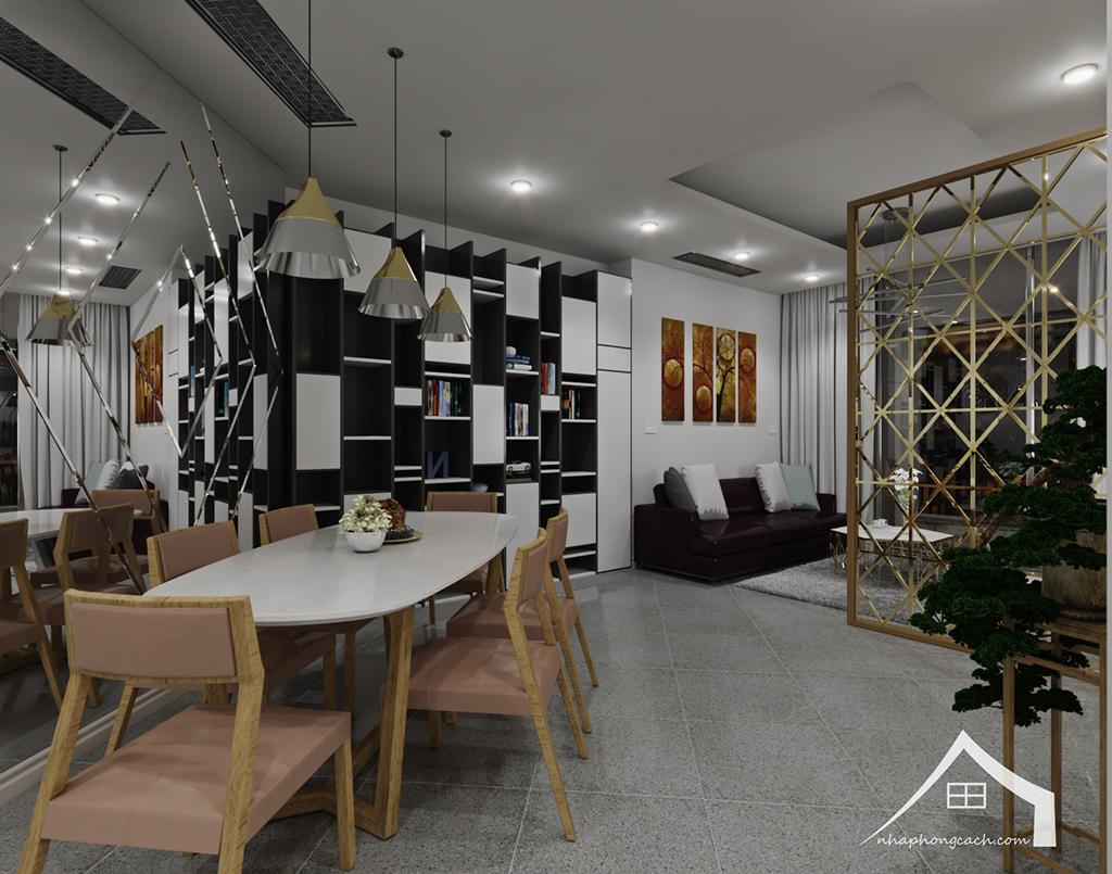 Thiết kế nội thất hiện đại Times City căn 06 & 12 diện tích 117m2 2