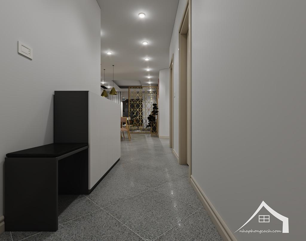 Thiết kế nội thất hiện đại Times City căn 06 & 12 diện tích 117m2