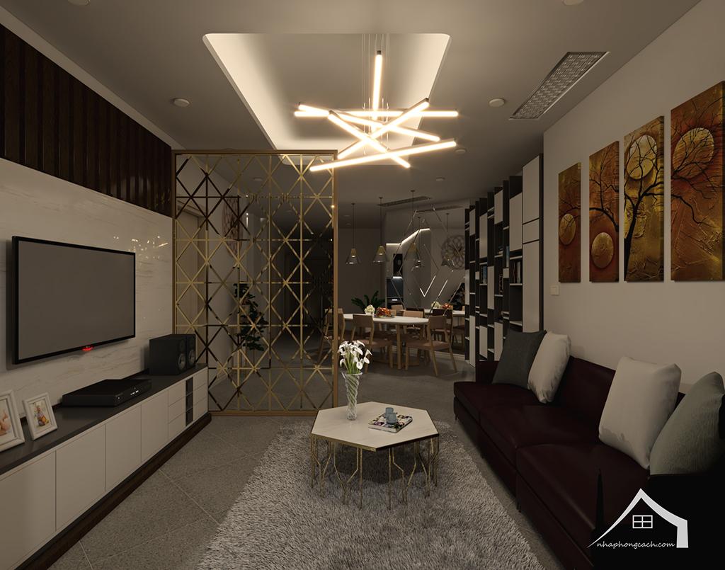 Thiết kế nội thất hiện đại Times City căn 06 & 12 diện tích 117m2 10