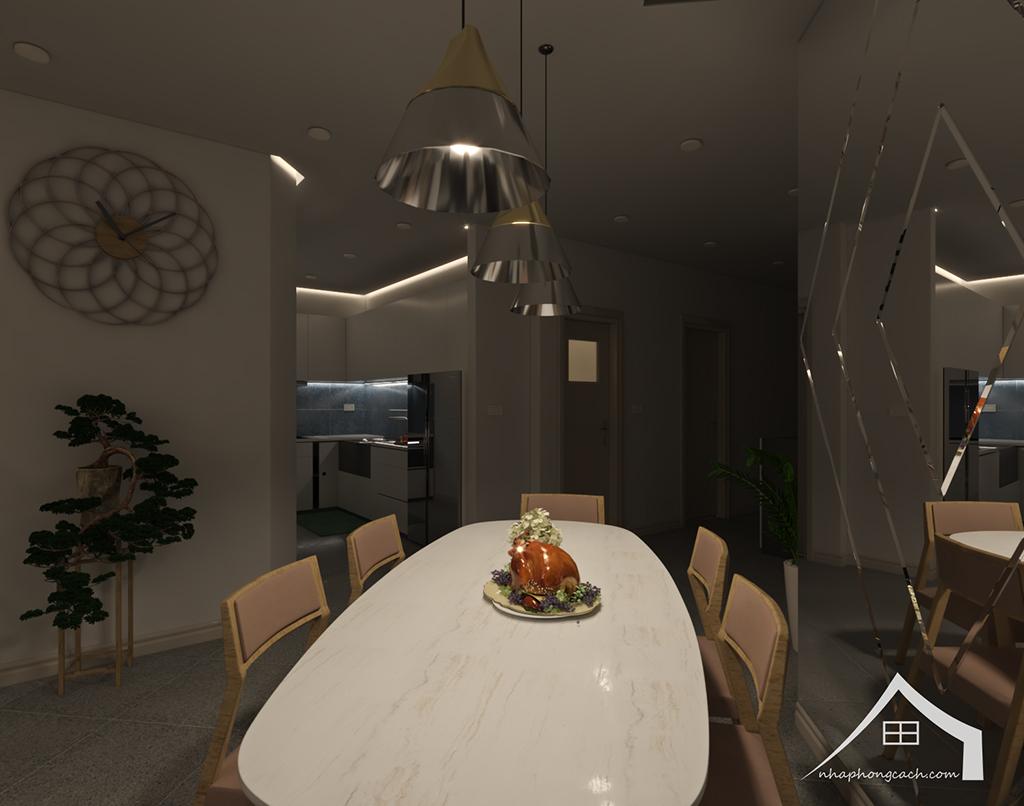 Thiết kế nội thất hiện đại Times City căn 06 & 12 diện tích 117m2 11