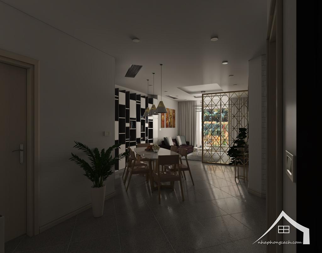 Thiết kế nội thất hiện đại Times City căn 06 & 12 diện tích 117m2 12
