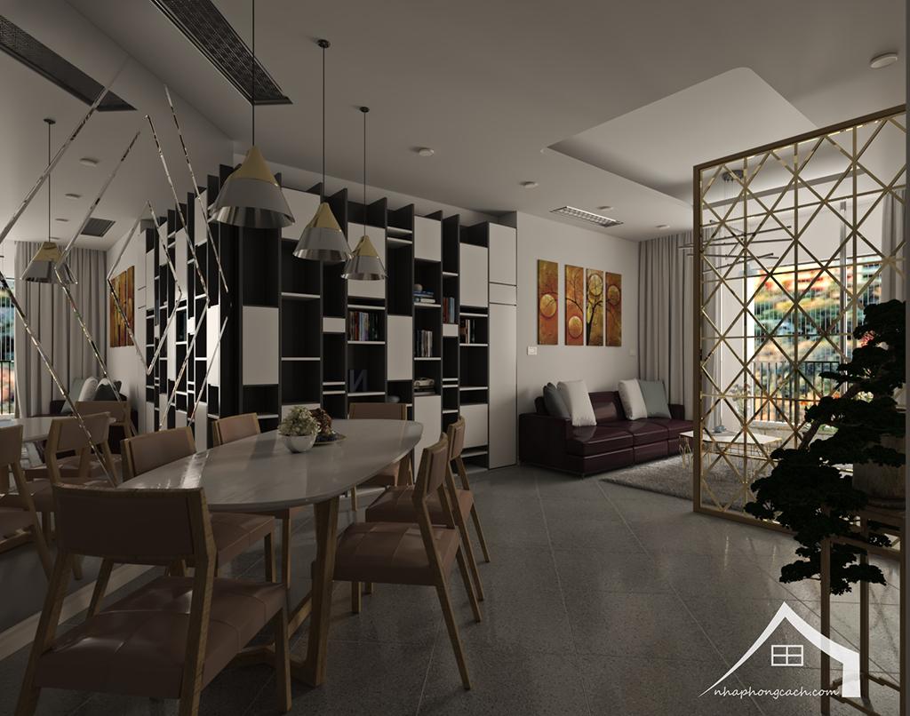 Thiết kế nội thất hiện đại Times City căn 06 & 12 diện tích 117m2 13