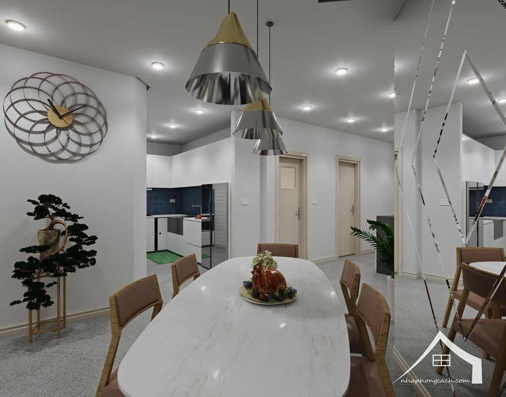 Thiết kế nội thất hiện đại Times City căn 06 & 12 diện tích 117m2 3