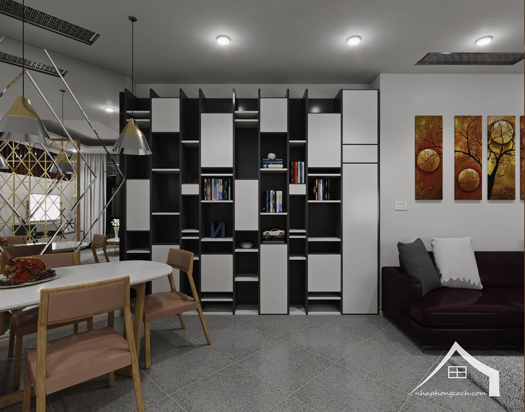 Thiết kế nội thất hiện đại Times City căn 06 & 12 diện tích 117m2 6
