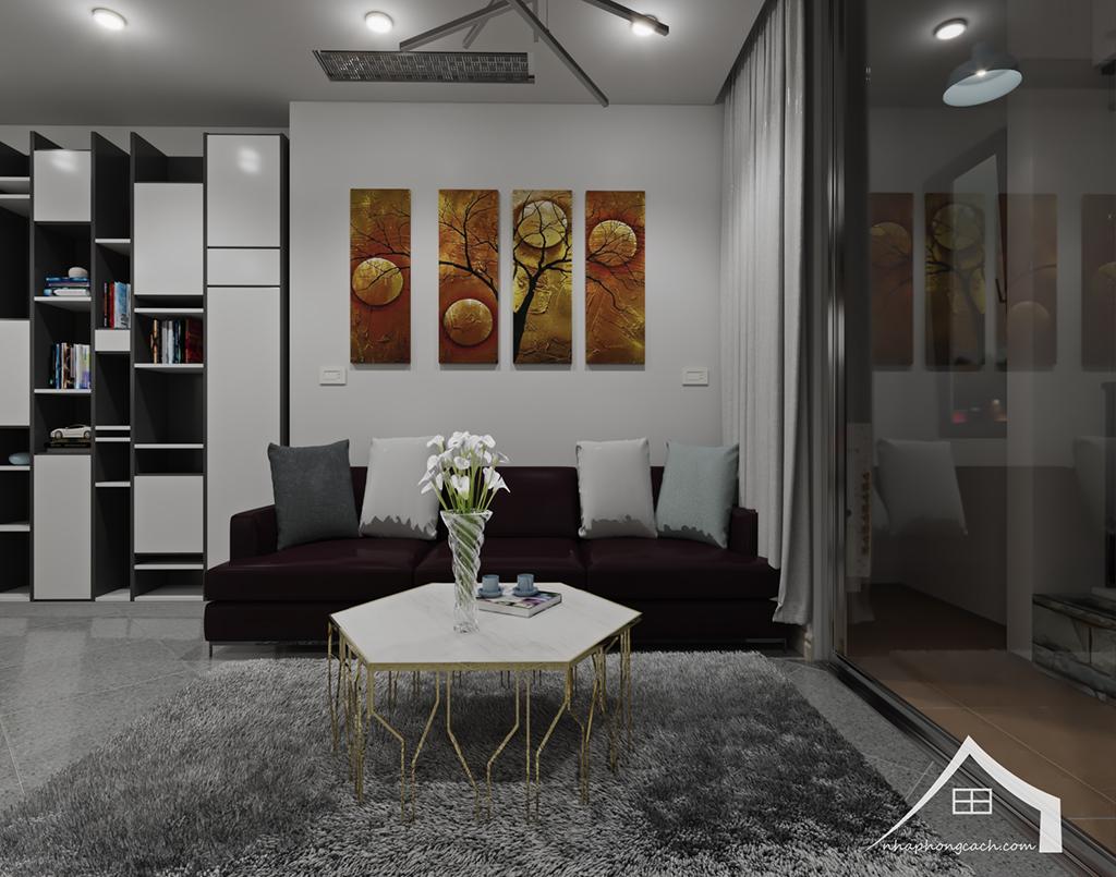 Thiết kế nội thất hiện đại Times City căn 06 & 12 diện tích 117m2 7