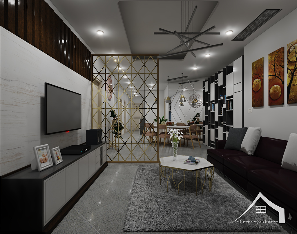 Thiết kế nội thất hiện đại Times City căn 06 & 12 diện tích 117m2 8
