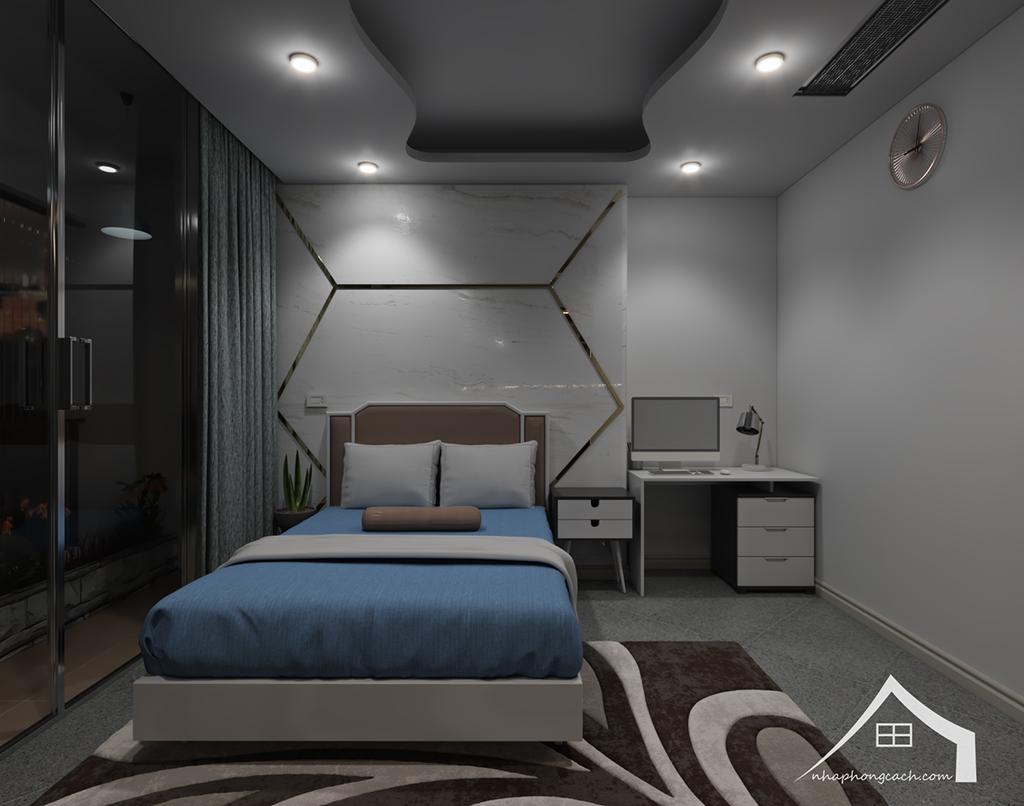 Thiết kế nội thất hiện đại Times City căn 06 & 12 diện tích 117m2 230