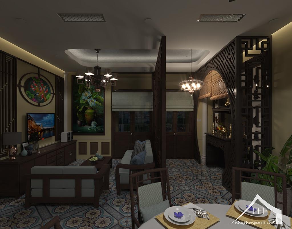 Thiết kế nội thất Đông Dương cho Times City căn 08 & 10 diện tích 95m2 15