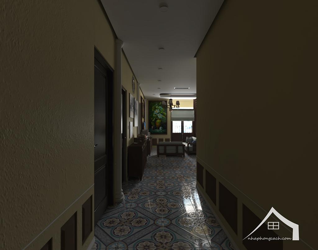 Thiết kế nội thất Đông Dương cho Times City căn 08 & 10 diện tích 95m2 10