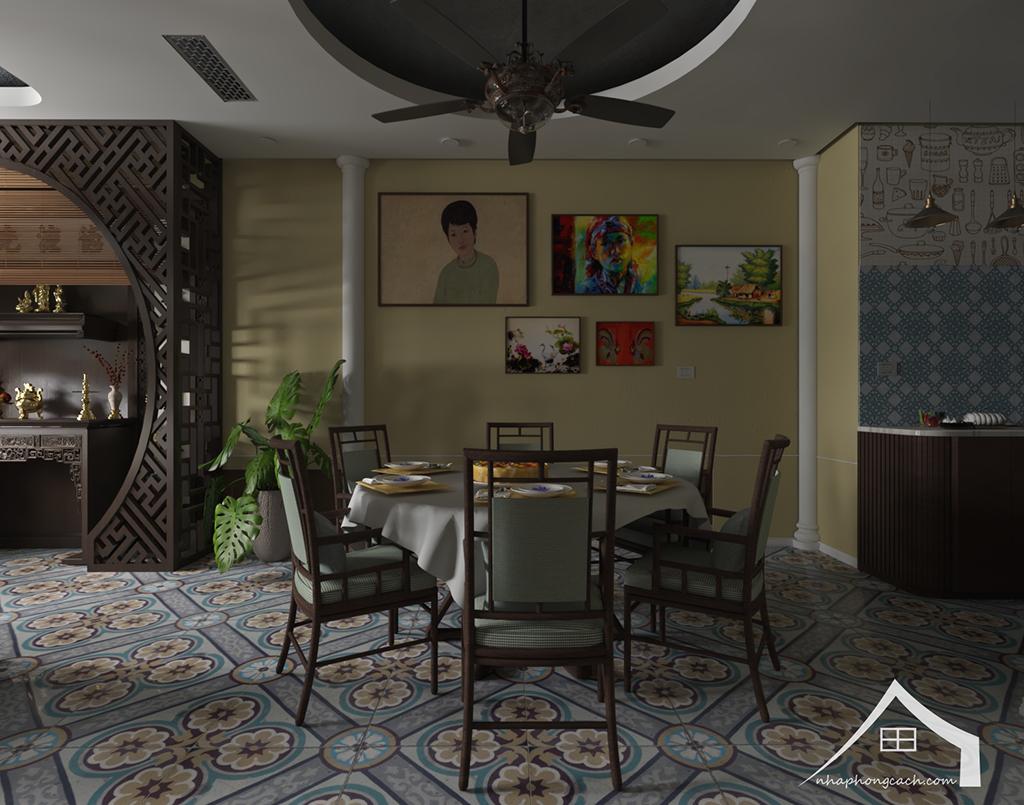 Thiết kế nội thất Đông Dương cho Times City căn 08 & 10 diện tích 95m2 11