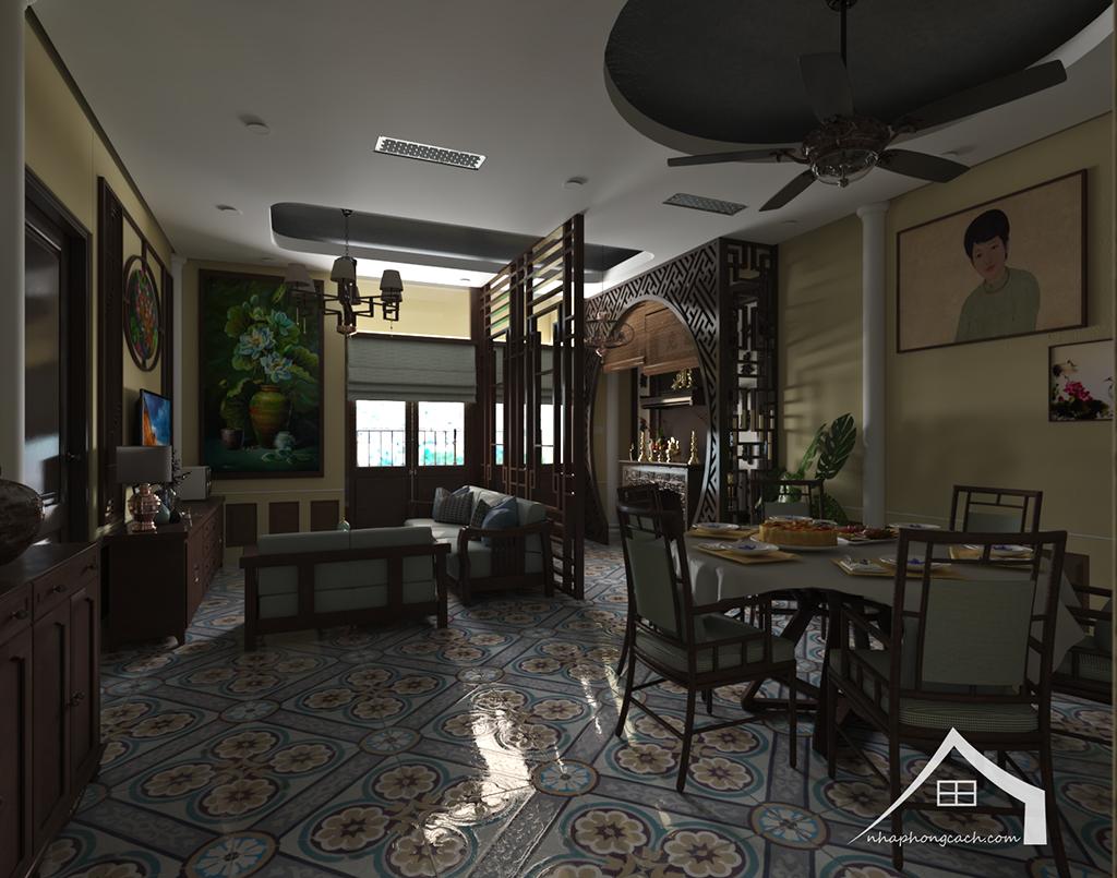 Thiết kế nội thất Đông Dương cho Times City căn 08 & 10 diện tích 95m2 17
