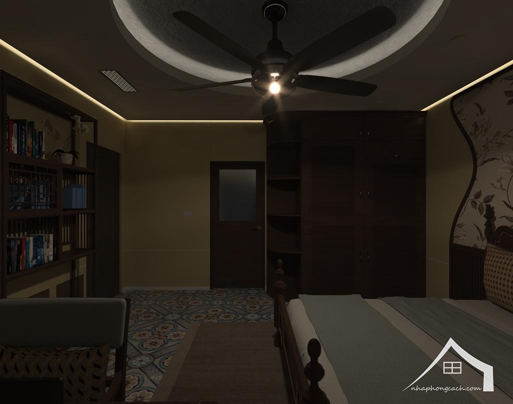 Phòng ngủ bố mẹ phong cách Đông Dương căn 08 &10 diện tích 95m2 9